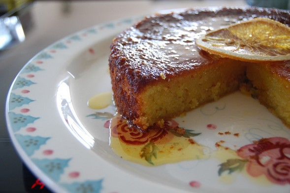 A delicious North African citrus almond cake